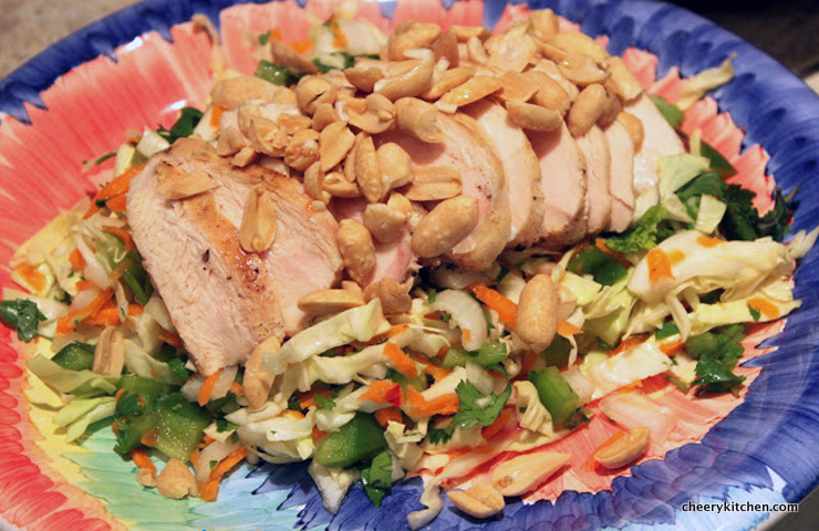 Thai Chi Lime Chicken Salad is in my top 10 best salads for sure!
