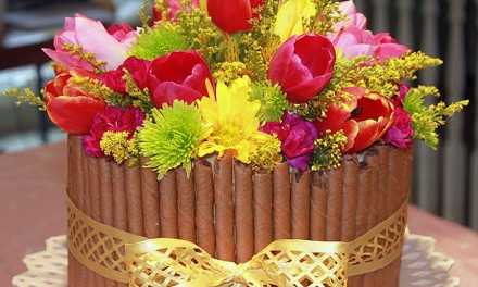 Flower Easter Basket Cake