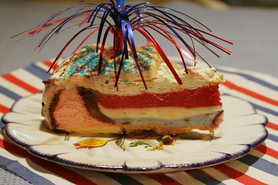 Firecracker Ice Cream Cake