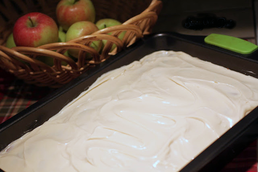 Apple Walnut Cake With Cream Cheese Frosting