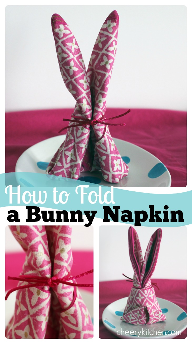 Grab a square napkin, a ribbon or cord, and learn How to Fold a Bunny Napkin. They are super cute and easy to make!