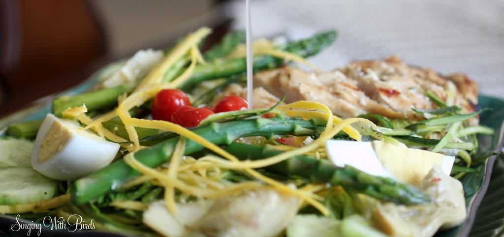 Bird's Nest Salad with Balsamic Vinaigrette