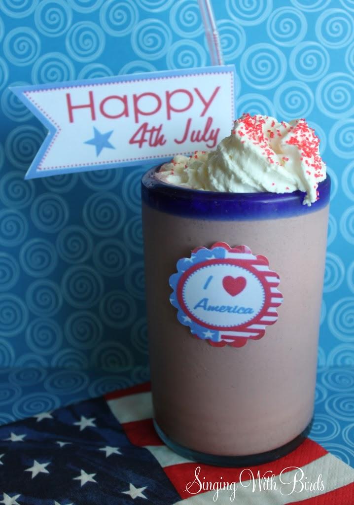 Red Velvet Oreo Cookie Milk Shake