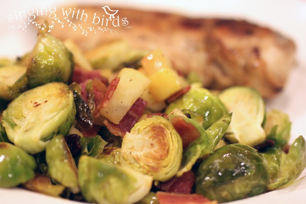Roasted Brussels Sprouts and Apples - Cheery Kitchen