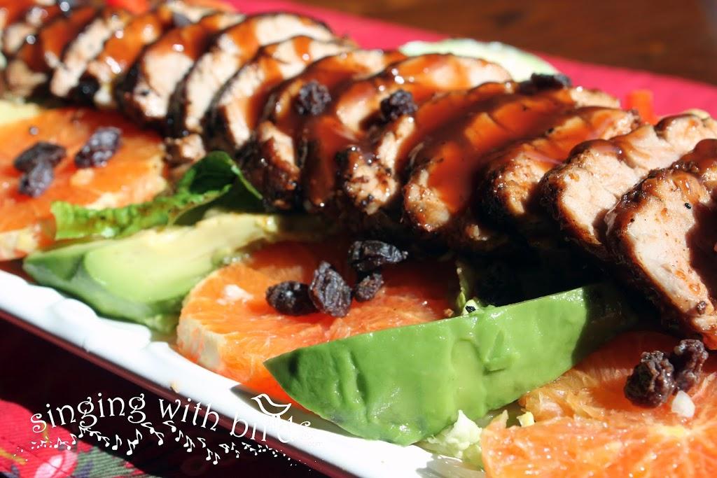 Grilled Tropical Pork Tenderloin Salad