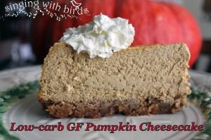 Low-carb GF Pumpkin Cheesecake / singingwithbirds.com