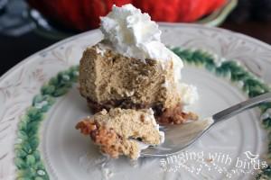 Low-carb Pumpkin Cheesecake / singingwithbirds.com