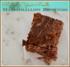 Melt in Your Mouth Marshmallow Brownies |cheerykitchen.com