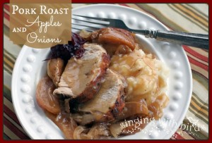 Pork Roast with Apples and Onions | cheerykitchen.com