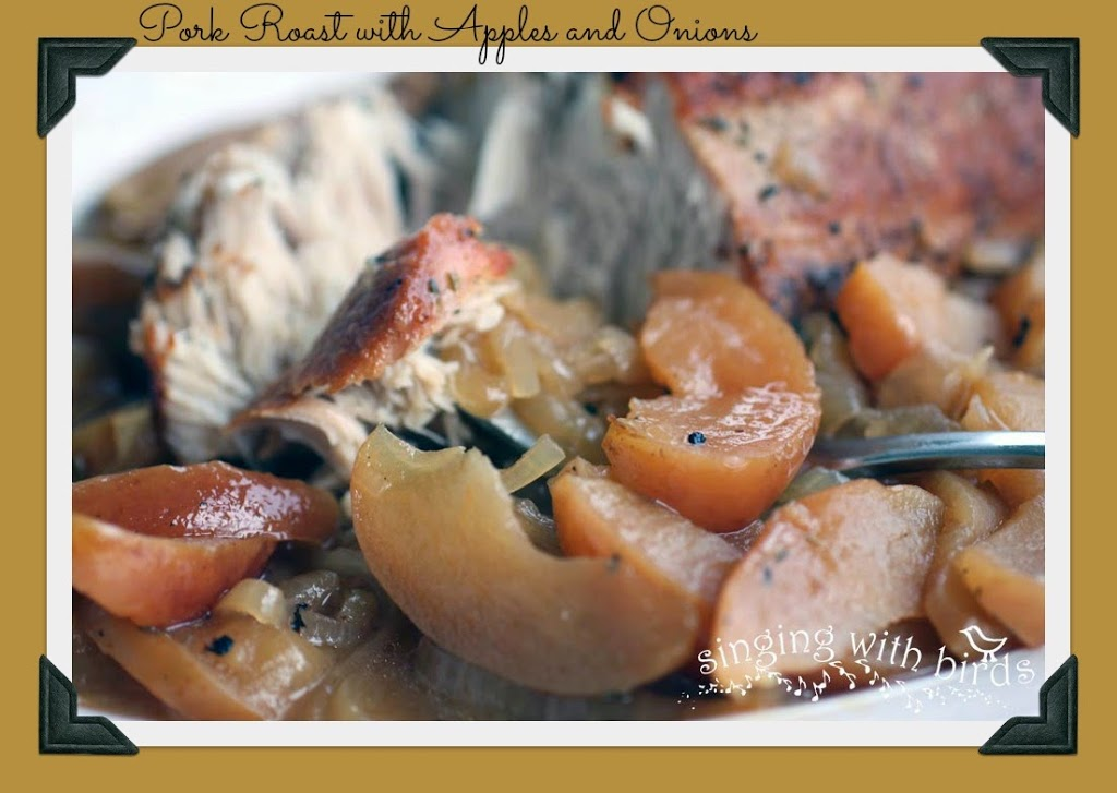 Pork Roast with Apples and Onions - Cheery Kitchen