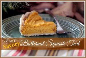 Ava's Savory Butternut Squash Tart | cheerykitchen.com