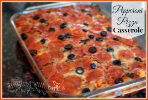 Pepperoni Pizza Casserole | cheerykitchen.com
