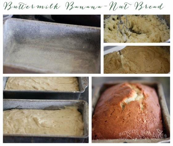 Buttermilk Banana Nut Bread