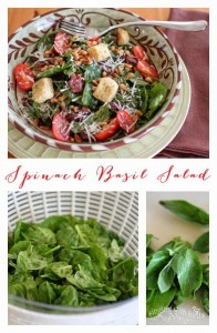 Spinach Basil Salad