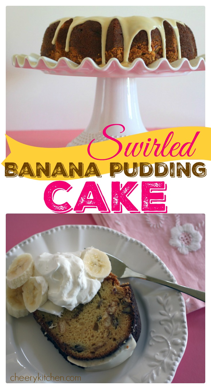 Swirled Banana Pudding Cake