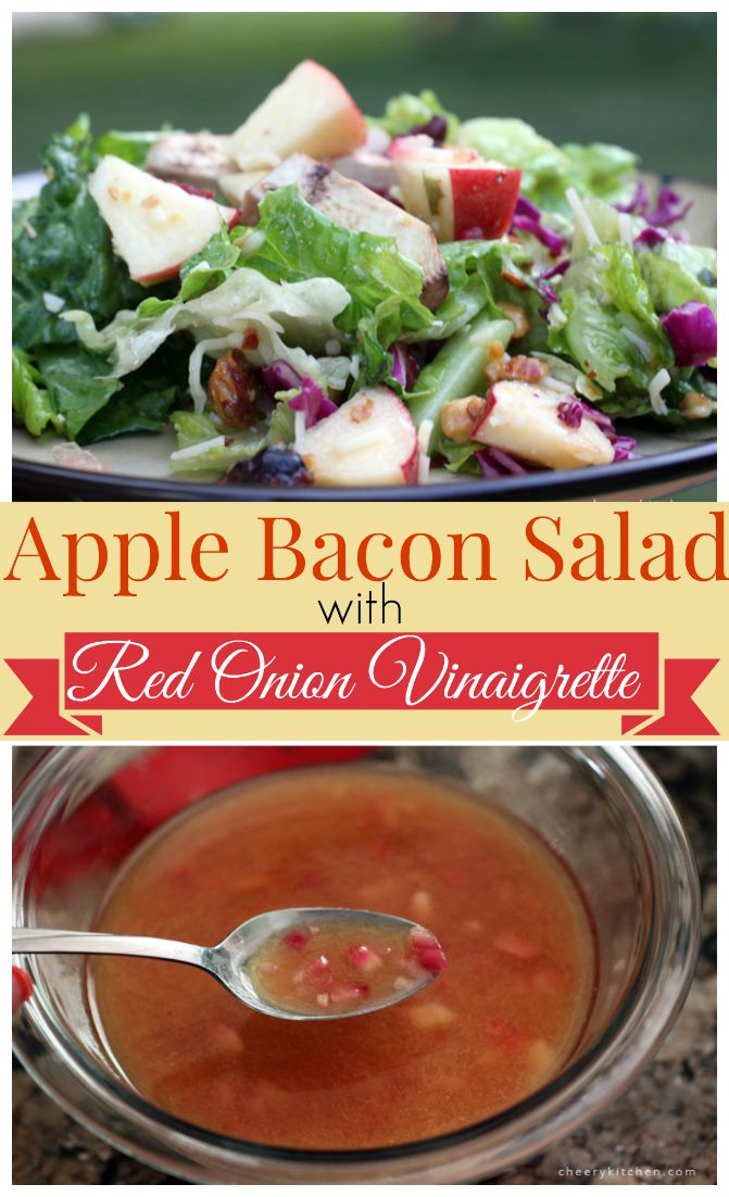 Perfection on a plate, Apple Bacon Salad is tangy and tantalizing, my new favorite salad for sure.