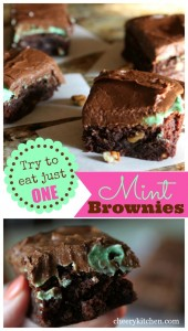 The Best Mint Brownies, with just the right amount of mint frosting, you'll ever taste, try to eat just one!
