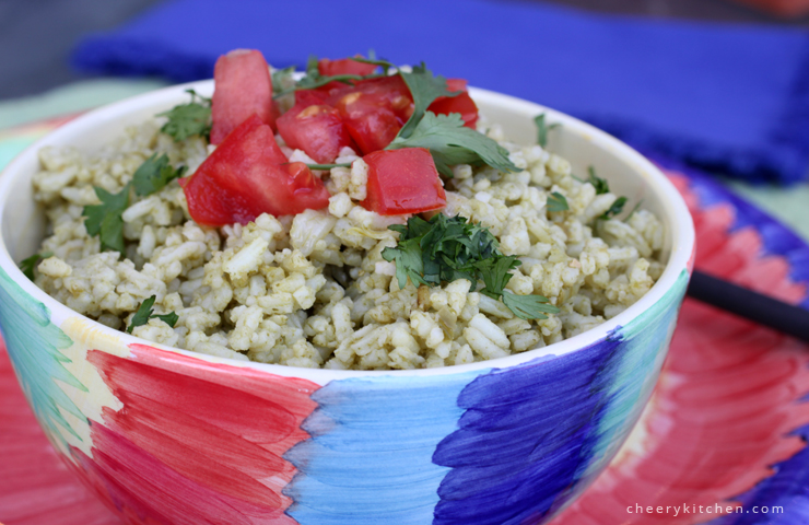 Mexican Rice with Cilantro Dressing