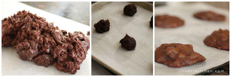 Ooey-gooey Double Chocolate Cookies