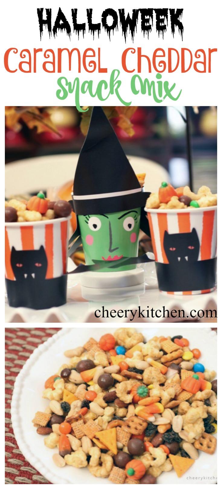 Caramel Cheddar Snack Mix
