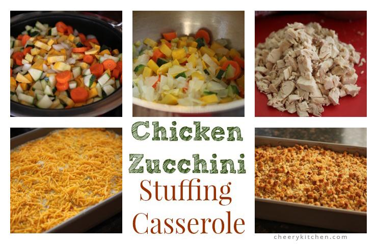 Chicken Zucchini Stuffing Casserole