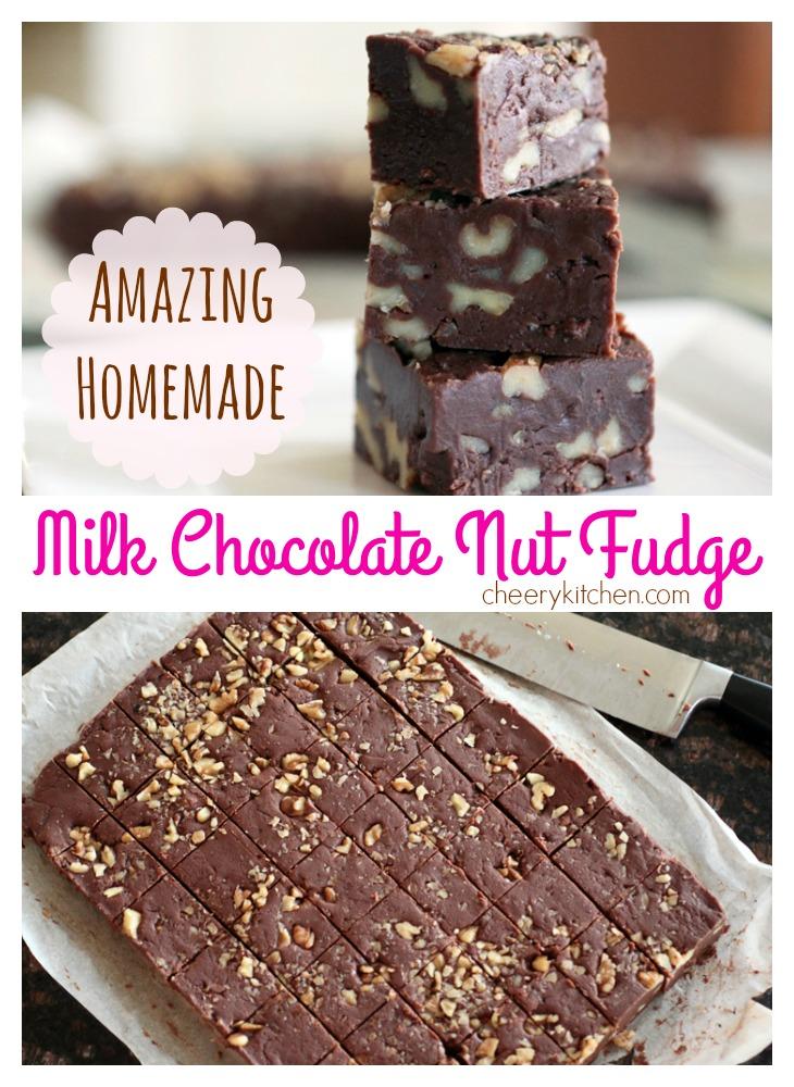 Amazing Homemade Milk Chocolate Nut Fudge