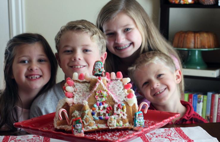 Gingerbread House Bundt Cake