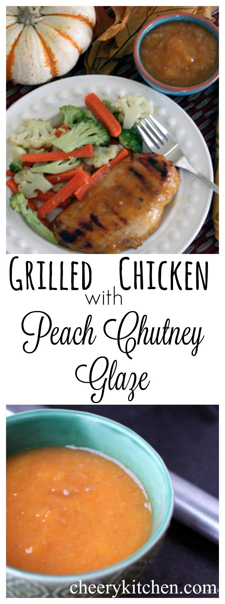 Grilled Chicken with Peach Chutney Glaze