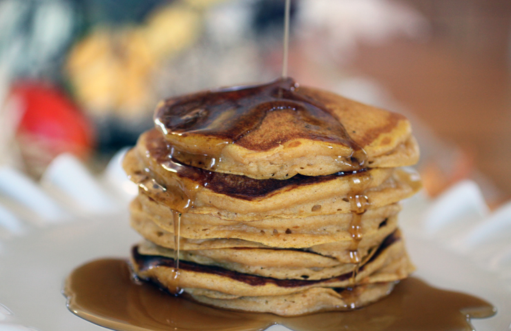 Pumpkin Pecan Pancakes - Cheery Kitchen