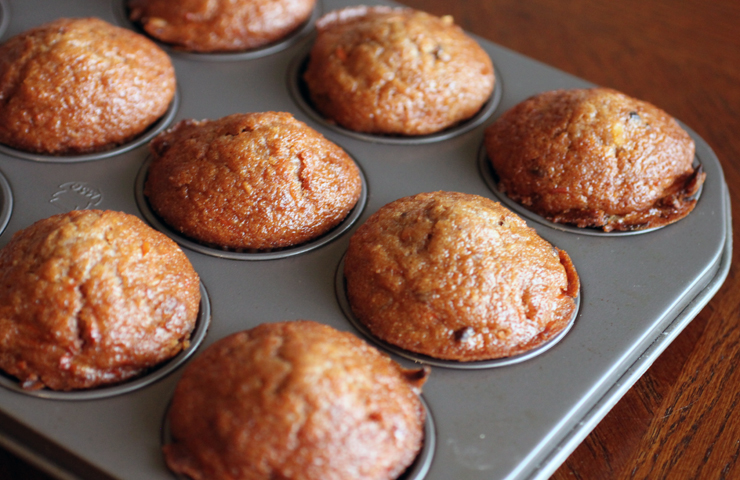 Morning Glory Muffins with Maple Glaze