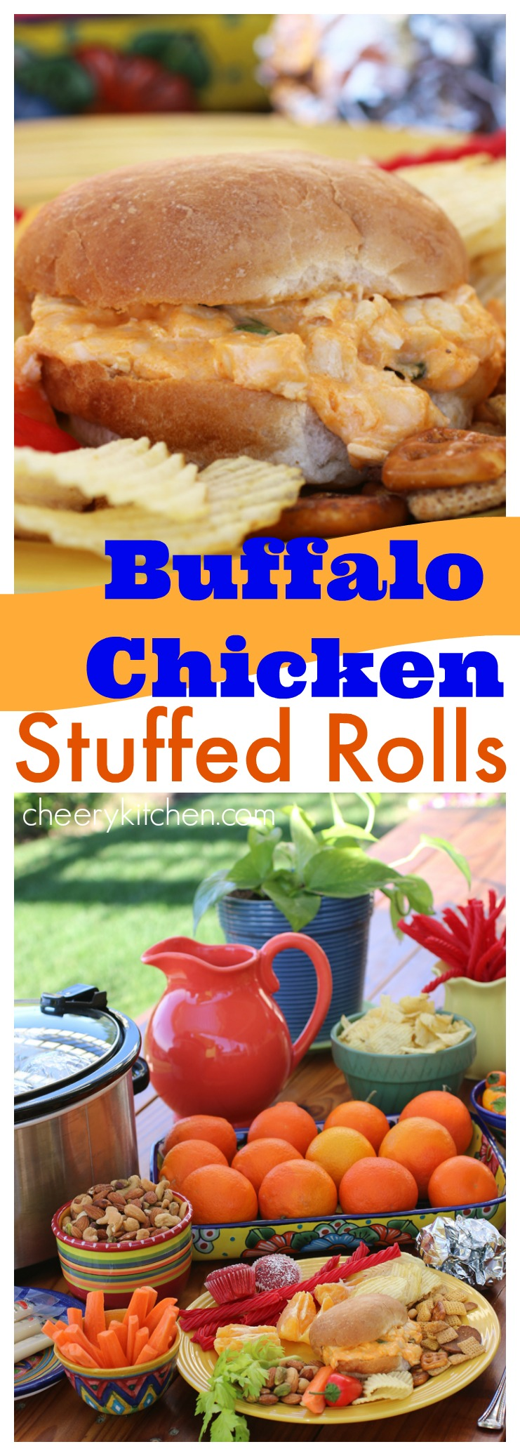 Buffalo Chicken Stuffed Rolls