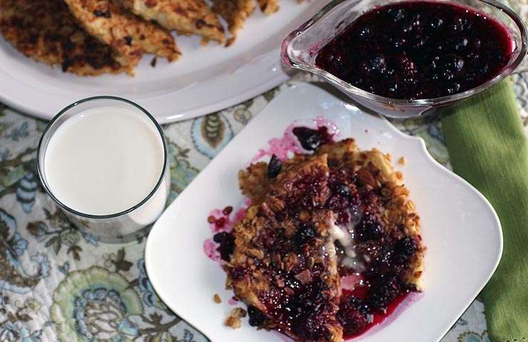 Granola French Toast with Mixed Berry Syrup