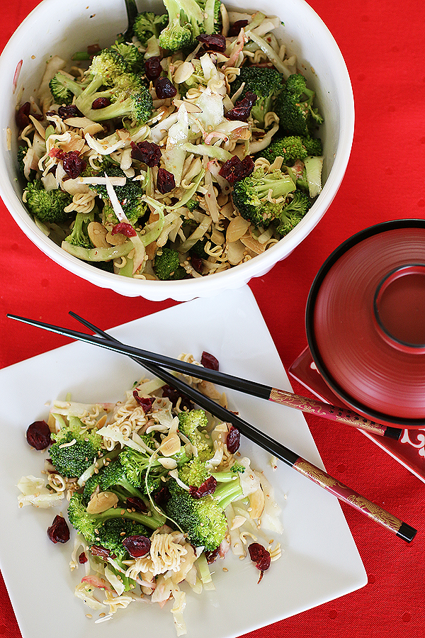 Broccoli Cabbage Cranberry Salad