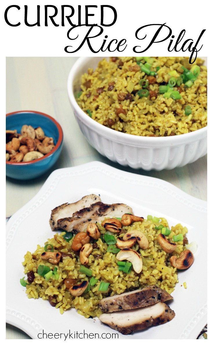 Curried Rice Pilaf is delicious with everything! It adds beautiful color to your place. Come see our step by step directions to create your own rice pilaf. It's amazingly good!