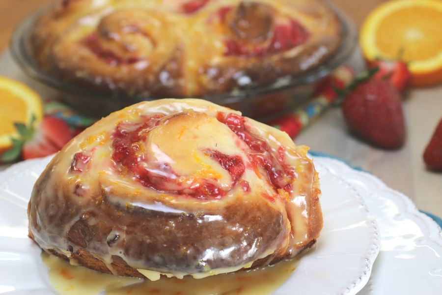 Strawberry Orange Sweet Rolls