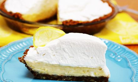 Ginger Pecan Crusted Lemon Creme Pie