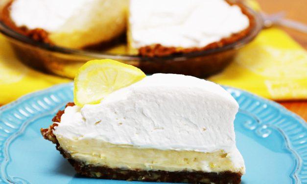 Ginger Pecan Crusted Lemon Creme Pie