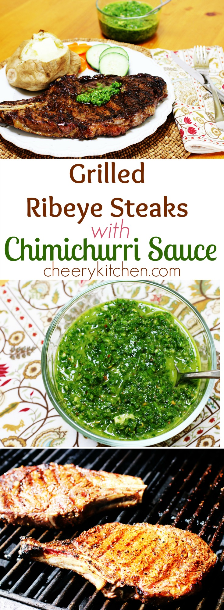 Gotta try it, Grilled Ribeye Steaks with Chimichurri Sauce is one of the best meals you will ever enjoy. Such a flavorful sauce, fresh and often called Argentine barbecue sauce, you'll love it!!!