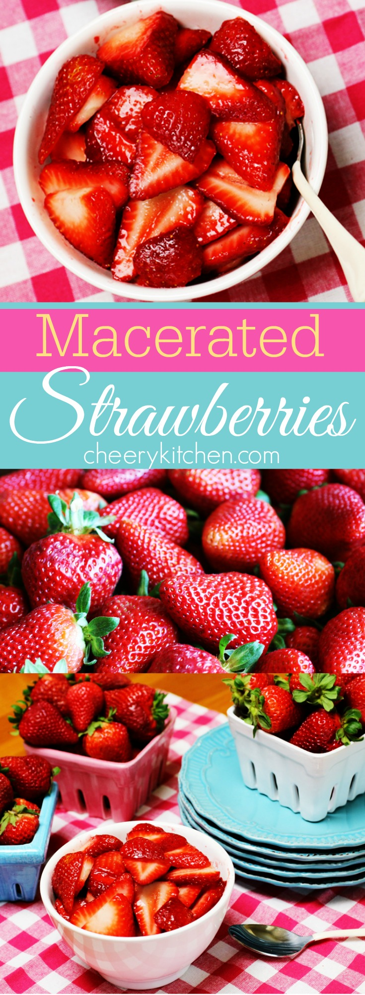 Serve or freeze macerate strawberries, all you have to do is sprinkle sugar on them, which draws out their juices so they become soft and sweet and deliciously saucy.