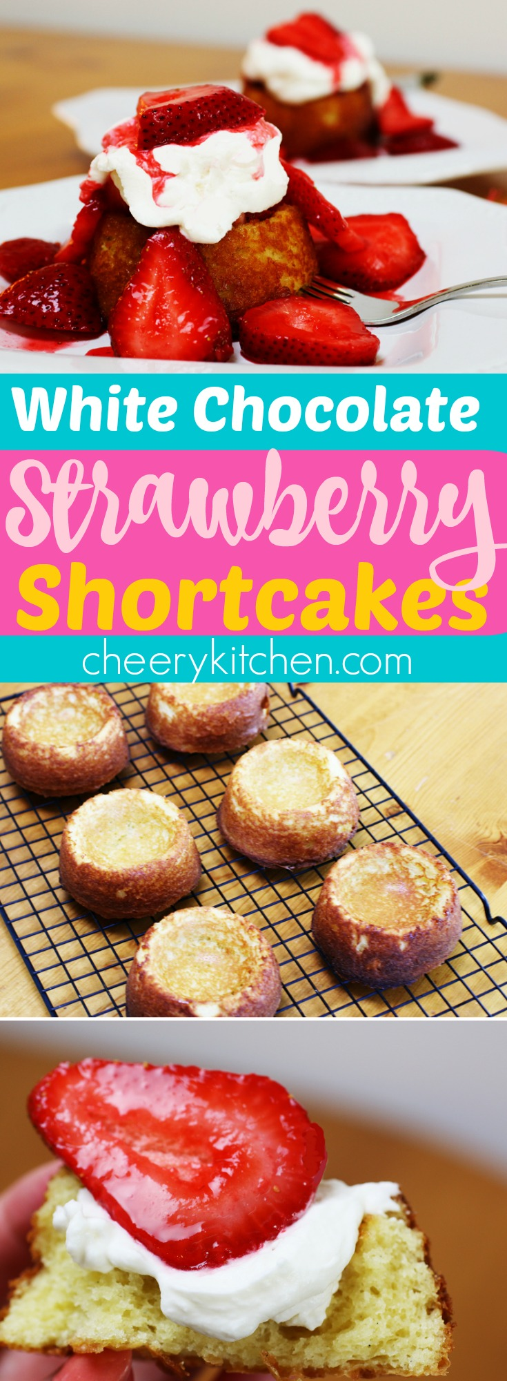 Dreaming of White Chocolate Strawberry Shortcakes, so delicious! Perfect for tea parties and dinner party finales, YUM!!!