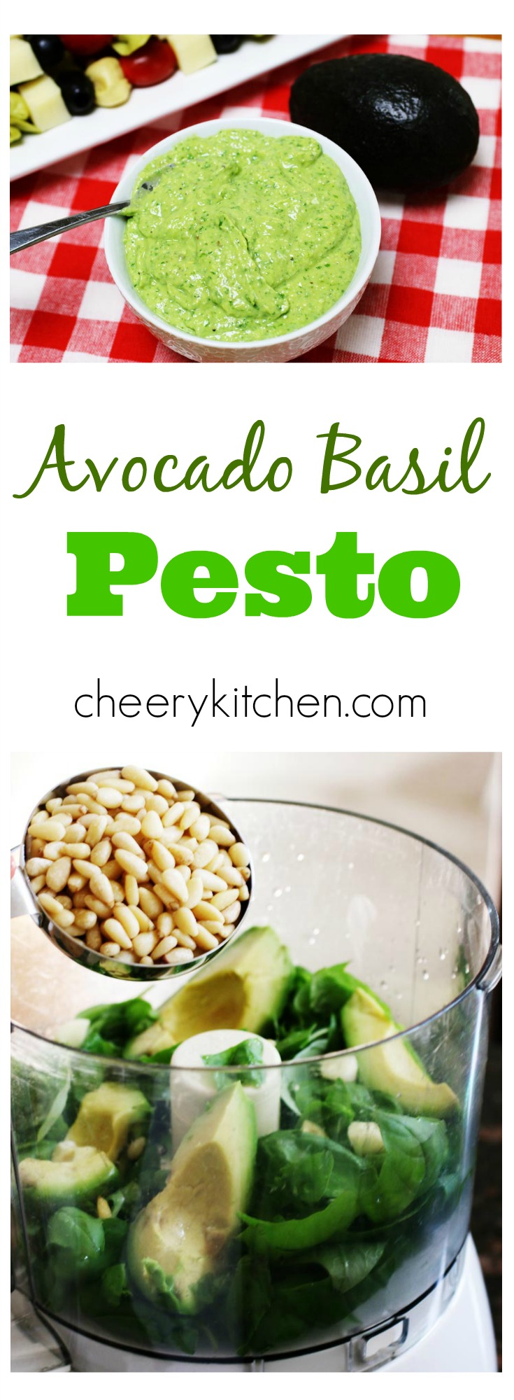 Creamy heart-healthy Avocado Basil Pesto is a sauce you can toss with pasta, dip into with your favorite veggies, spread on sandwiches, or dress your salads. It's perfectly delicious for about $5 in 5 minutes!