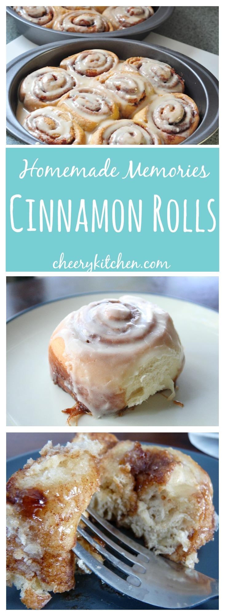 Cinnamon rolls create memories in my household. Learn a 90 minute cinnamon roll recipe, tips on how to make cinnamon rolls wrapped in memories.