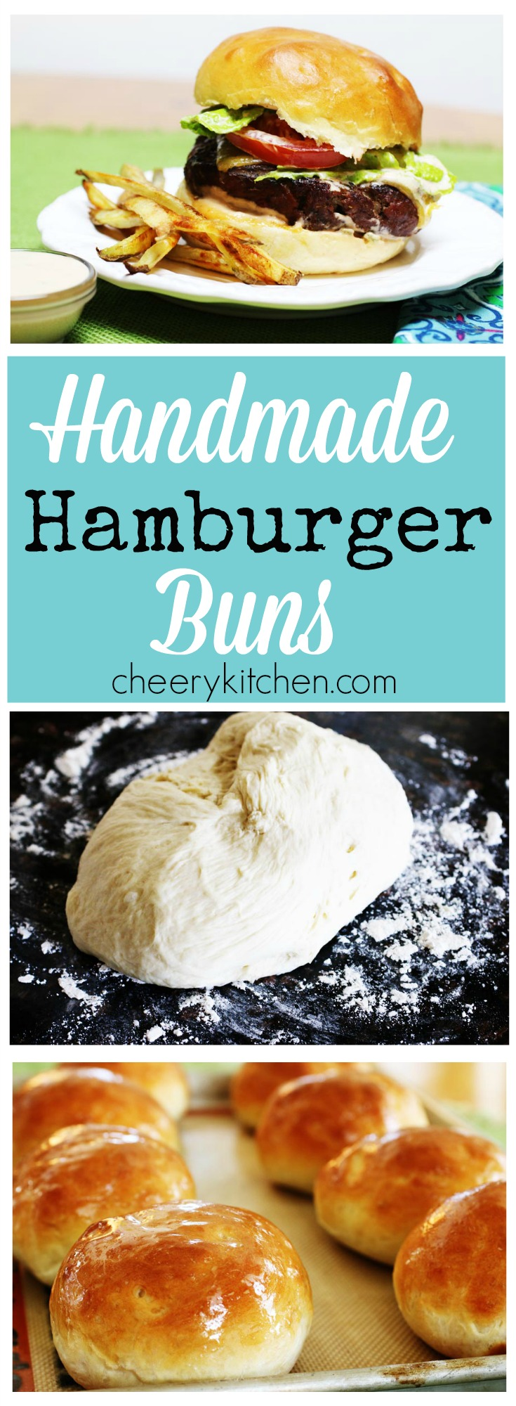 Kick your grilled burgers up a notch with Homemade Hamburger buns that are soft and chewy, so much better than what comes out of a plastic bag!