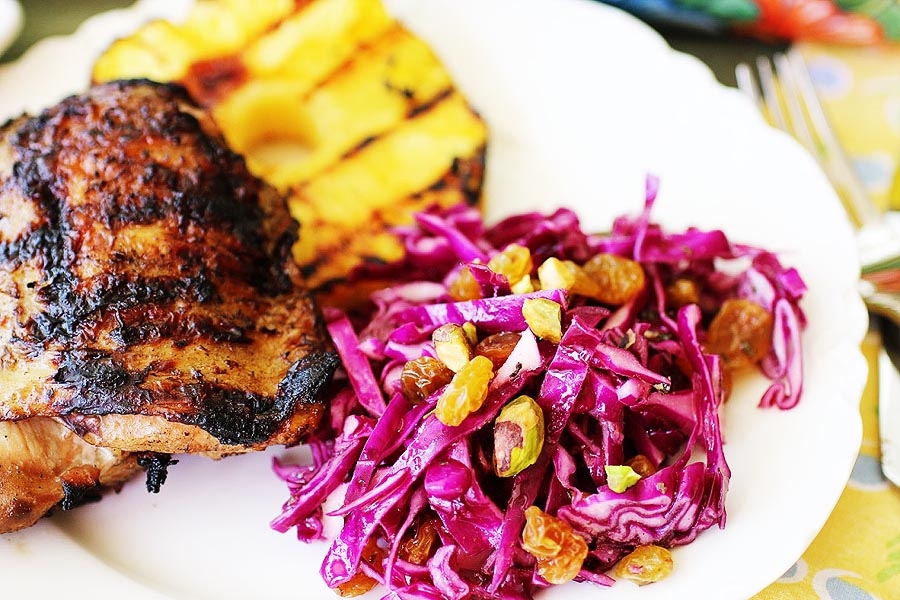 Mojo Red Cabbage Slaw | cheerykitchen.com