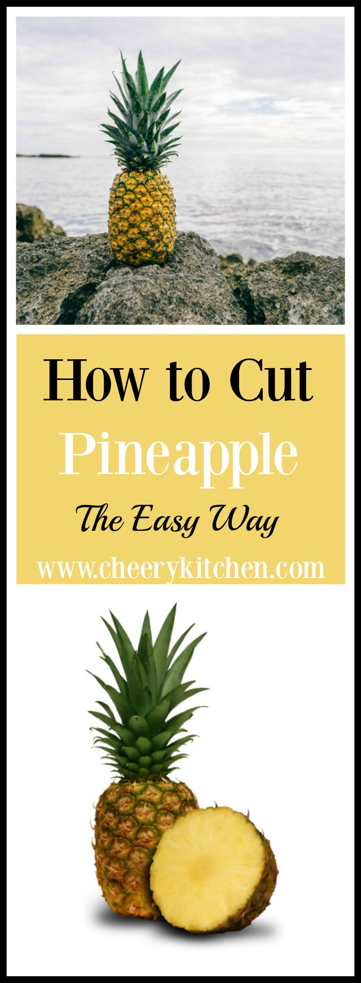 Do you hate to cut pineapple as much as I do? Well, stop working so hard because we have just the thing to make it easy as 1-2-3!
