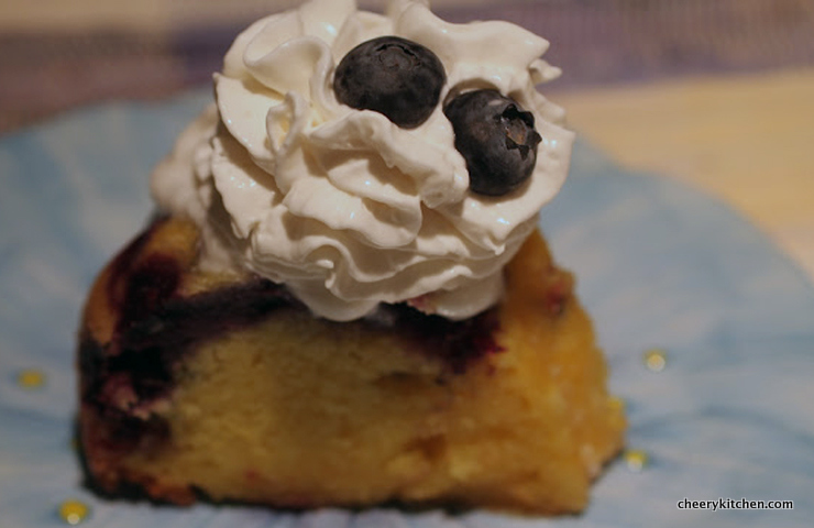 Zesty Lemon Blueberry Cake