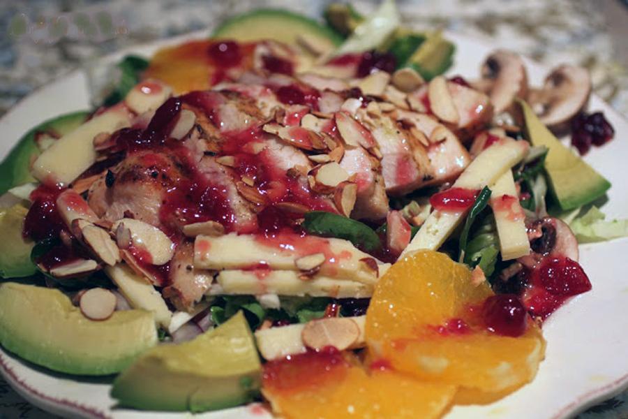 Cranberry Orange Grilled Chicken Salad