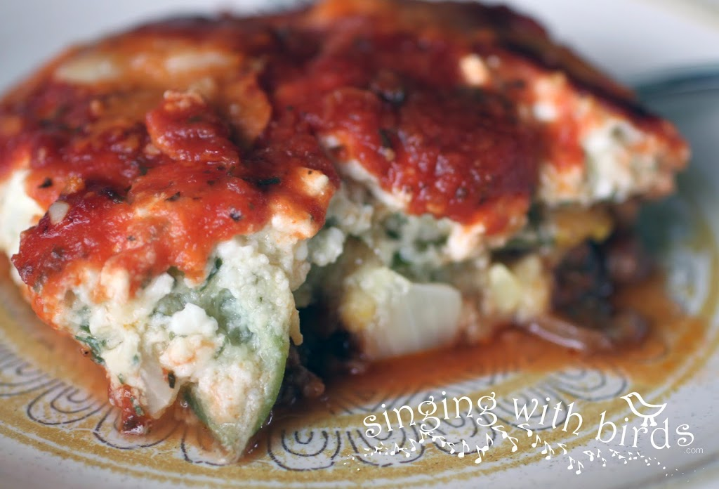 Zucchini Squash and Mushroom Lasagna
