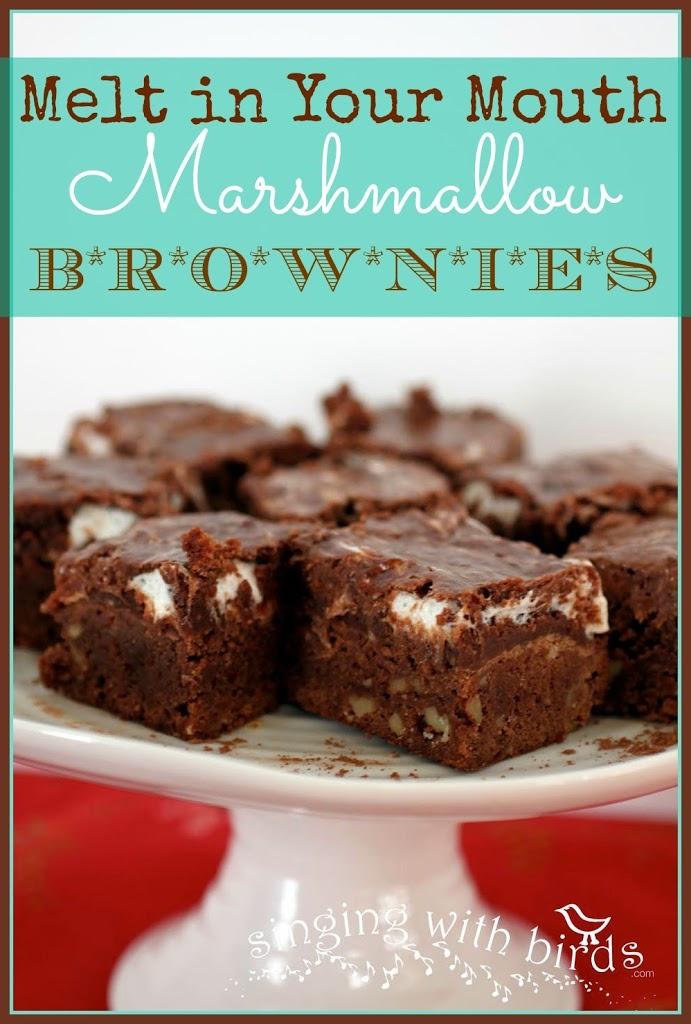Melt in Your Mouth Marshmallow Brownies