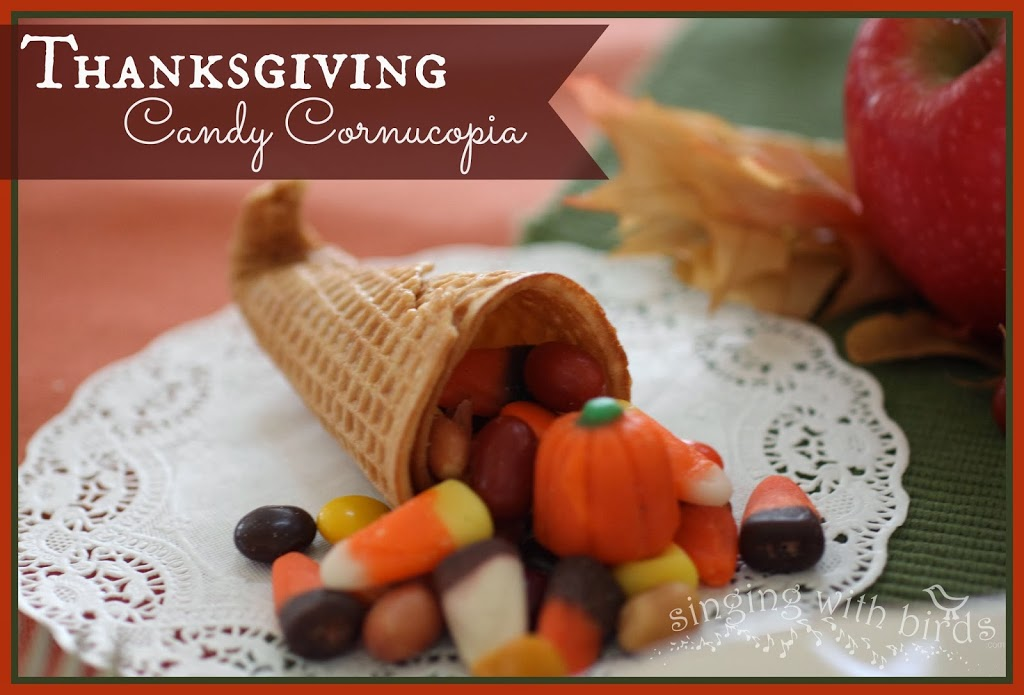 Thanksgiving Candy Cornucopias